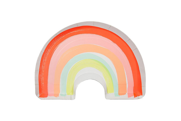 Meri Meri Rainbow Plates - Pop Roc Parties