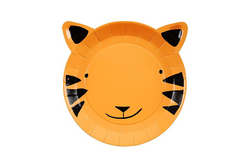 Meri Meri Go Wild Tiger Plates - Pop Roc Parties