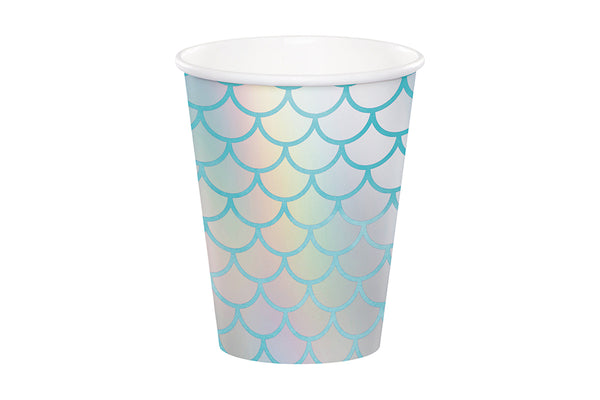 Mermaid Shine Iridescent Paper Cups | Pop Roc Parties