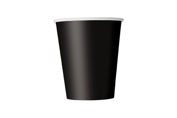 Black Paper Cups - Pop Roc Parties