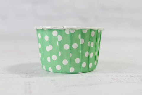 Green Apple Mini Polka Dot Cupcake Cups
