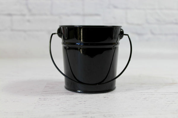 Mini Black Steel Buckets | Pop Roc Parties