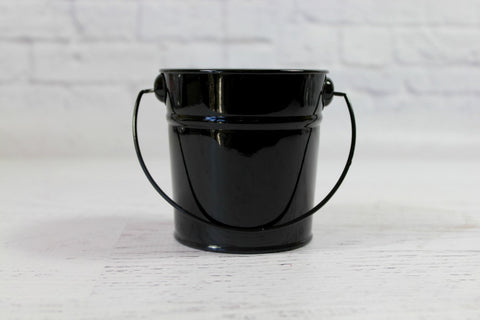 Mini Black Steel Buckets