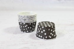Black Mini Polka Dot Cupcake Cups | Pop Roc Parties