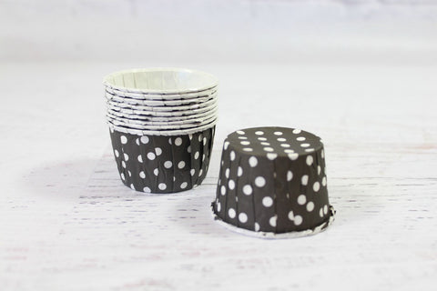 Black Mini Polka Dot Cupcake Cups