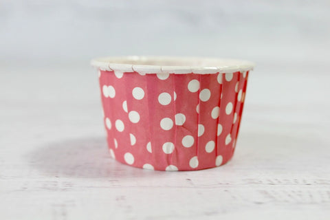 Blush Red Mini Polka Dot Cupcake Cups