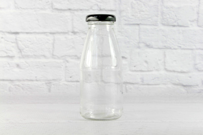 Black Lids for Mini Milk Bottles - Pop Roc Parties