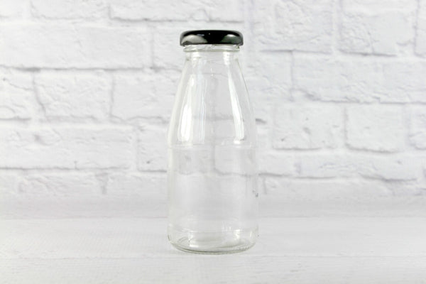 Black Lids for New Mini Milk Bottles | Pop Roc Parties
