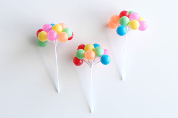 Colourful Mini Balloon Toppers - Pop Roc Parties