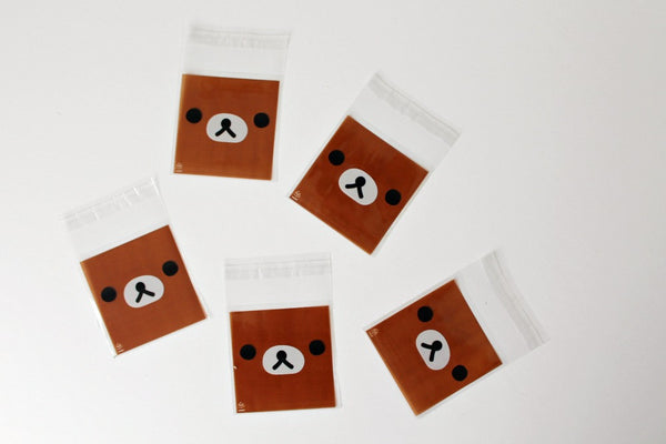 Mini Brown Bear Cello Bags - Pop Roc Parties