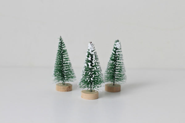 Mini Green Bristle Trees - Pop Roc Parties