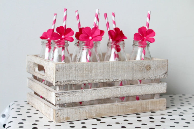 Whitewash Small Wooden Crates | Pop Roc Parties