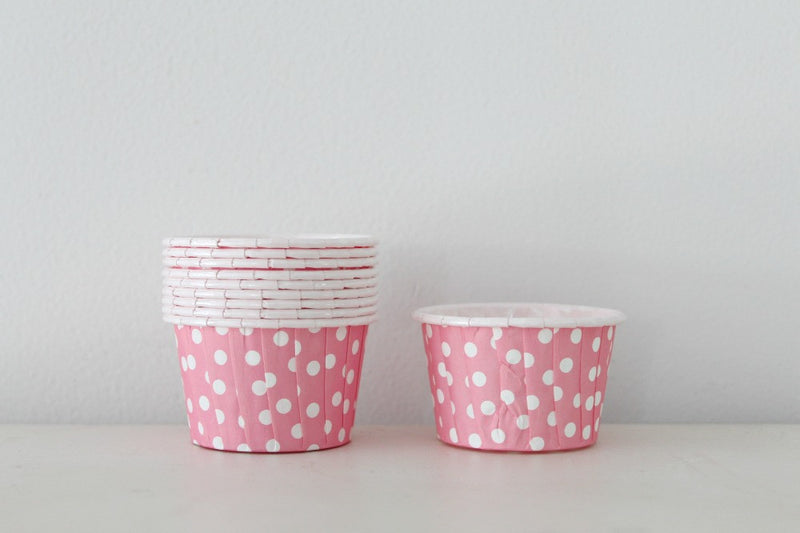 Pink Mini Polka Dot Cupcake Cups - Pop Roc Parties