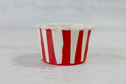 Red Stripe Mini Cupcake Cups