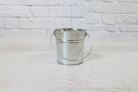Mini Silver Steel Buckets
