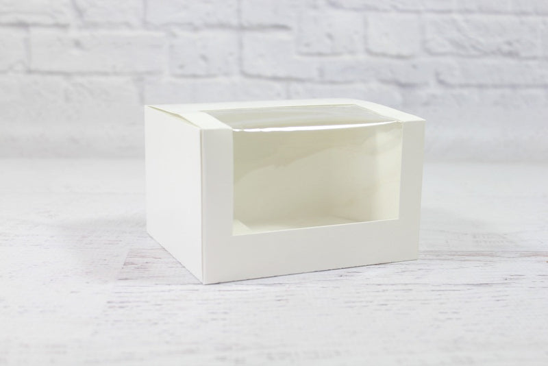 White Mini Patisserie Window Box - Pop Roc Parties