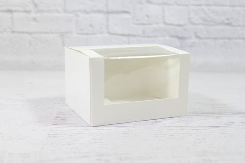 White Mini Patisserie Window Box