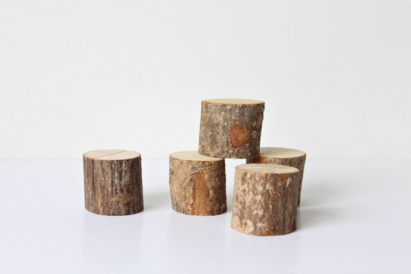 Mini Wooden Log Sign Holders - Pop Roc Parties