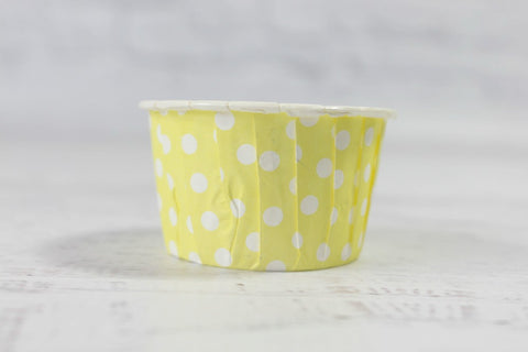 Lemon Mini Polka Dot Cupcake Cups