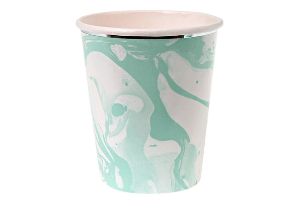 Meri Meri Mint Marble Cups - Pop Roc Parties