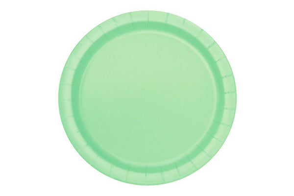 Mint Green Small Paper Plates | Pop Roc Parties