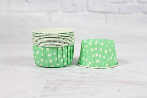 Mint Polka Dot Cupcake Cups