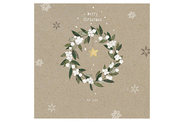Mistletoe Wreath Christmas Card - Last One! | Pop Roc Parties