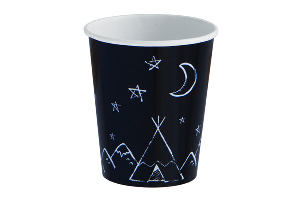 Modern Camp Teepee Party Cups - Pop Roc Parties