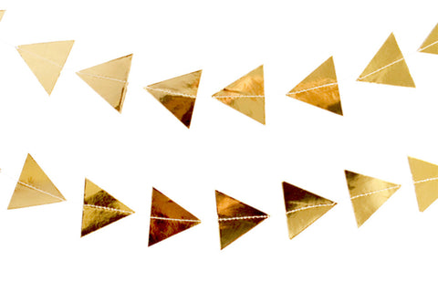 Goddess Gold Triangles Garland