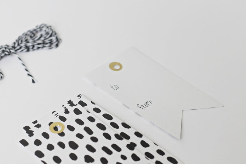 Monochrome Gift Tags - Pop Roc Parties