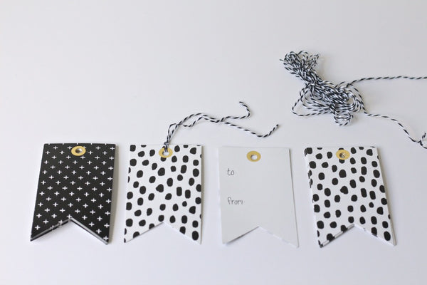 Monochrome Gift Tags