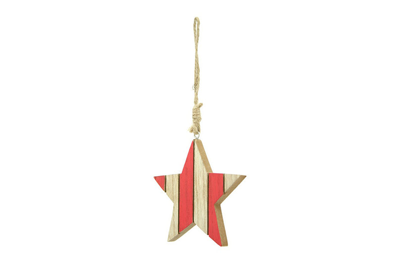 Nordic Wooden Stripe Star Decoration | Pop Roc Parties