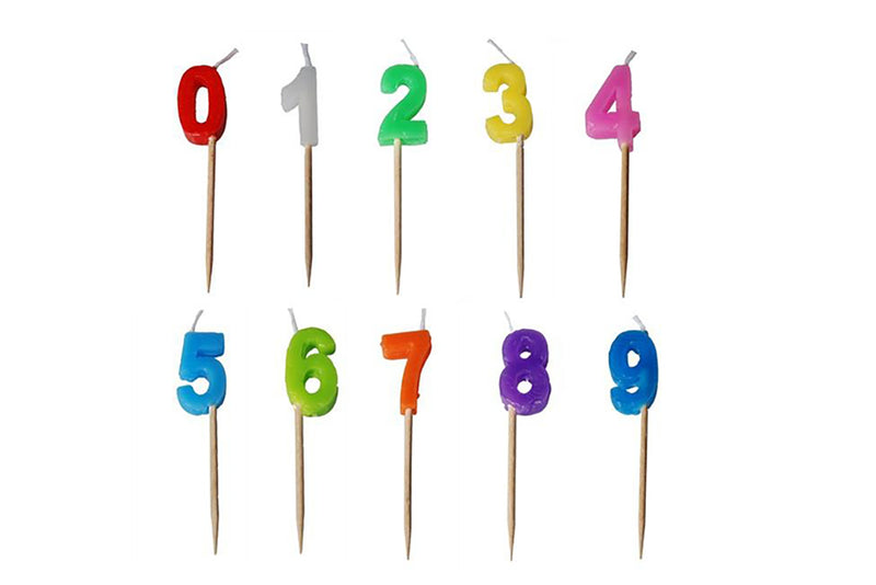 Colourful Number Candles | Pop Roc Parties