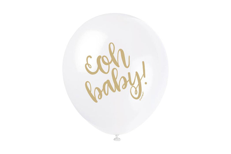 Gold 'oh baby' Balloon Pack | Pop Roc Parties