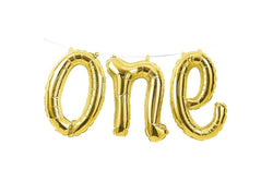 Gold Foil 'one' Balloon Banner | Pop Roc Parties