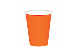 Orange Paper Cups | Pop Roc Parties