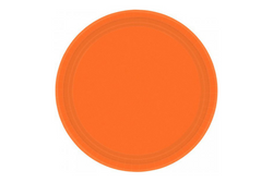 Orange Small Paper Plates | Pop Roc Parties