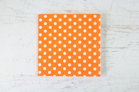 Orange Polka Dot Napkins