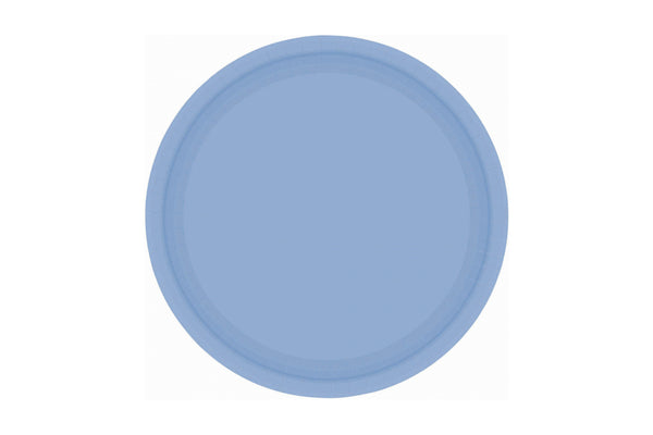 Pastel Blue Small Paper Plates | Pop Roc Parties