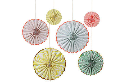 Pastel Stripe Pinwheel Decorations