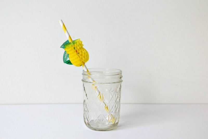 Pineapple Honeycomb Paper Straws - Pop Roc Parties