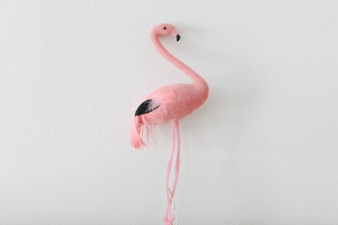 Feathered Flamingo Cake Topper