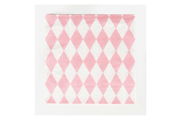 Pink Diamond Paper Napkins - Pop Roc Parties