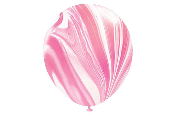Pink Marble Balloons - Pop Roc Parties