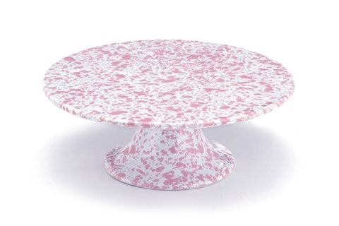 Pink Marble Enamel Cake Stand