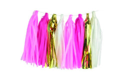 Pink & Gold Tassel Garland | Pop Roc Parties