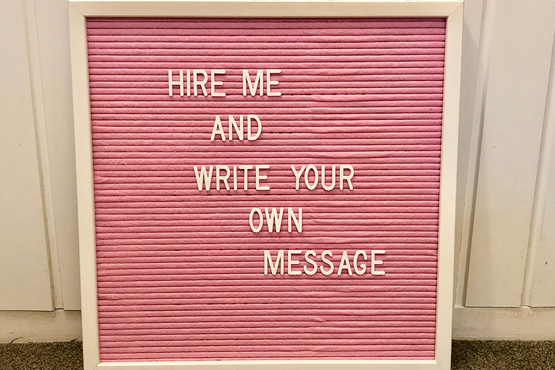 Pink Felt Memo Board - HIRE | Pop Roc Parties
