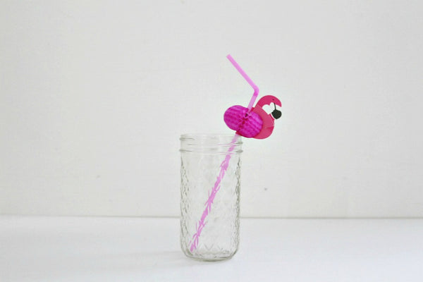 Pink Flamingo Straws - Pop Roc Parties