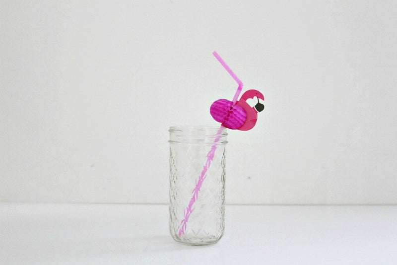 Pink Flamingo Straws | Pop Roc Parties