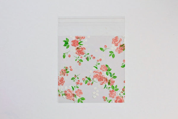 Pink Floral Cello Bags - Pop Roc Parties
